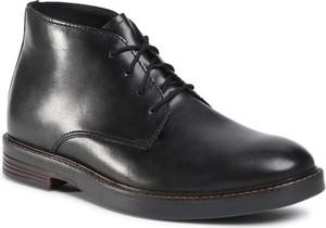 Czarne buty zimowe Clarks