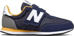 Granatowe buty sportowe dziecięce New Balance na rzepy z zamszu