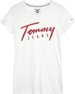 T-shirt Tommy Jeans z okrągłym dekoltem w młodzieżowym stylu z krótkim rękawem