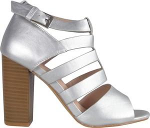 Srebrne sandały Kokietki