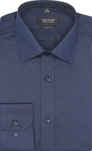 Granatowa koszula recman z długim rękawem