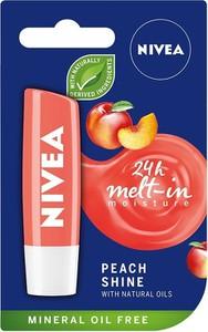 Nivea, Lip Care, pomadka ochronna, Peach Shine, 4.8g