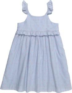 Niebieska sukienka dziewczęca Gap z bawełny