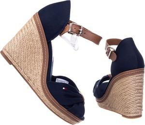 Granatowe sandały Tommy Hilfiger