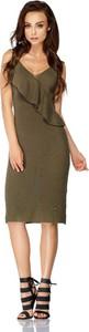 Sukienka FLORENCE z dekoltem w kształcie litery v na ramiączkach