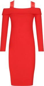 Sukienka Guess z długim rękawem w stylu casual