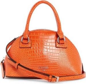 Pomarańczowa torebka Guess na ramię