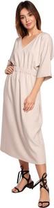 Sukienka Be midi z dekoltem w kształcie litery v