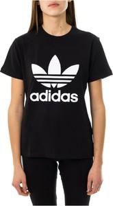 Bluzka Adidas z krótkim rękawem w sportowym stylu z okrągłym dekoltem