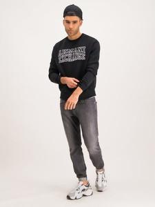 Czarna bluza Armani Jeans krótka w młodzieżowym stylu