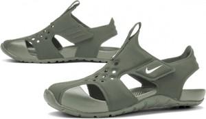 Zielone buty dziecięce letnie Nike na rzepy