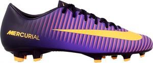Fioletowe buty sportowe Nike w sportowym stylu mercurial sznurowane