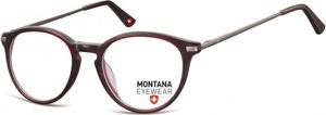 Stylion Okrągłe oprawki optyczne,lenonki korekcyjne Montana MA63E burgund