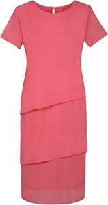 Różowa sukienka Fokus oversize midi