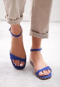 Sandały born2be z płaską podeszwą w stylu casual ze skóry ekologicznej