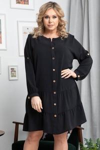 Sukienka KARKO z okrągłym dekoltem szmizjerka