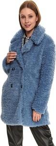Niebieski płaszcz Top Secret bez kaptura