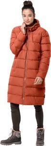 Pomarańczowy płaszcz Jack Wolfskin w stylu casual