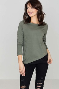 Zielona bluzka Katrus z długim rękawem