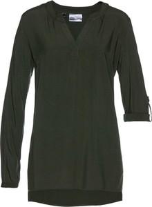 Zielona tunika bonprix bpc selection w stylu casual
