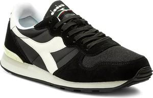 Czarne buty sportowe diadora z zamszu