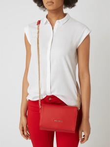 Czerwona torebka Valentino by Mario Valentino ze skóry