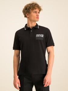 Czarna koszulka polo Versace Jeans