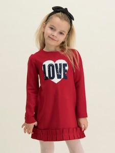 Czerwona sukienka dziewczęca Mayoral