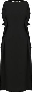 Sukienka McQ Alexander McQueen z okrągłym dekoltem w stylu casual z jedwabiu