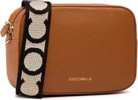 Brązowa torebka Coccinelle na ramię matowa średnia