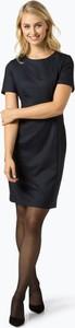 Granatowa sukienka Apriori prosta z okrągłym dekoltem