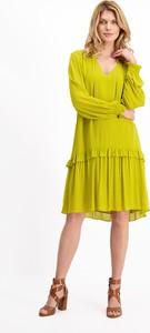 Zielona sukienka Lavard z długim rękawem