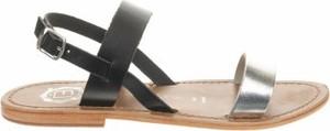 Sandały Les Bagatelles w stylu casual ze skóry z klamrami
