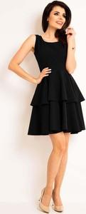 Czarna sukienka Awama rozkloszowana midi