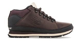 Brązowe buty sportowe New Balance ze skóry sznurowane