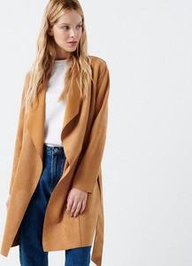 Cropp - Płaszcz z paskiem - Beżowy