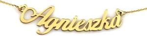 Lovrin Złoty naszyjnik 585 Celebrytka imię Agnieszka