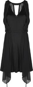 Czarna sukienka Patrizia Pepe bez rękawów