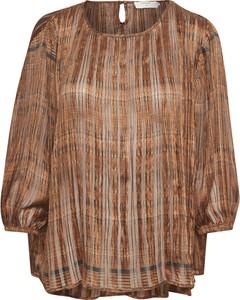 Brązowa bluzka Cream z długim rękawem