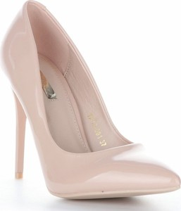 Różowe szpilki Belluci na wysokim obcasie na szpilce w stylu glamour