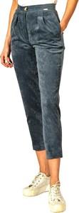 Niebieskie spodnie Figl ze sztruksu