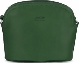 Torebki skórzane listonoszki firmy genuine leather zielone