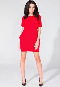 0063bc99ca sukienki proste czerwone - stylowo i modnie z Allani
