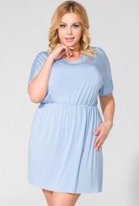 Niebieska sukienka Tessita z dzianiny