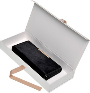 Czarny portfel Top Secret ze skóry