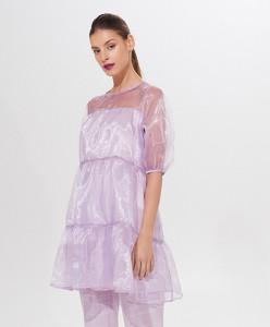 Fioletowa sukienka Mohito oversize