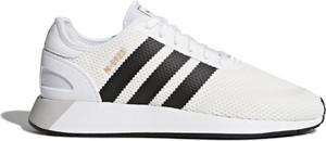 Buty sportowe Adidas z płaską podeszwą sznurowane ze skóry