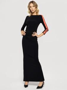 Sukienka Patrizia Pepe midi z długim rękawem z okrągłym dekoltem