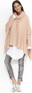 Różowy sweter Makadamia w stylu casual z moheru