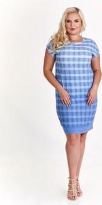 Niebieska sukienka Fokus oversize